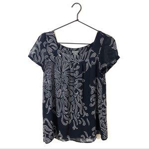 Ann Taylor Patterned Silk Blouse